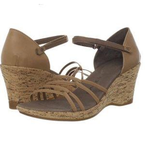 Teva Riviera leather cork wedge sandals
